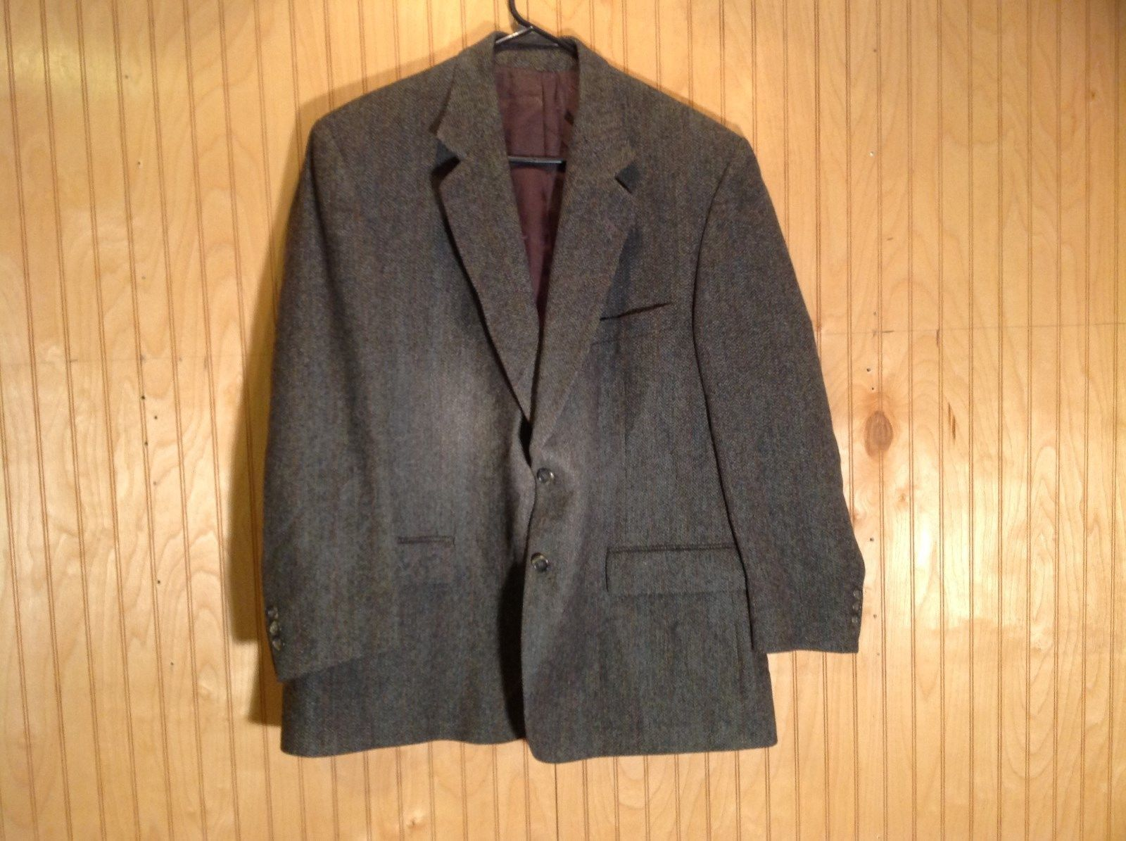 Cricketeer Gray Sport Coat 100 Percent Wool Yellow Blue Red in Fabric  No Tags