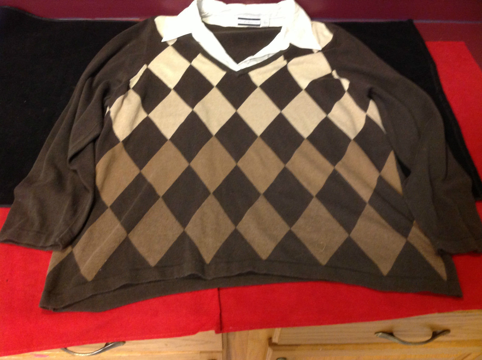 Croft & Barrow Ladies Long Sleeve Brown Sweater with Patterns Size 2X