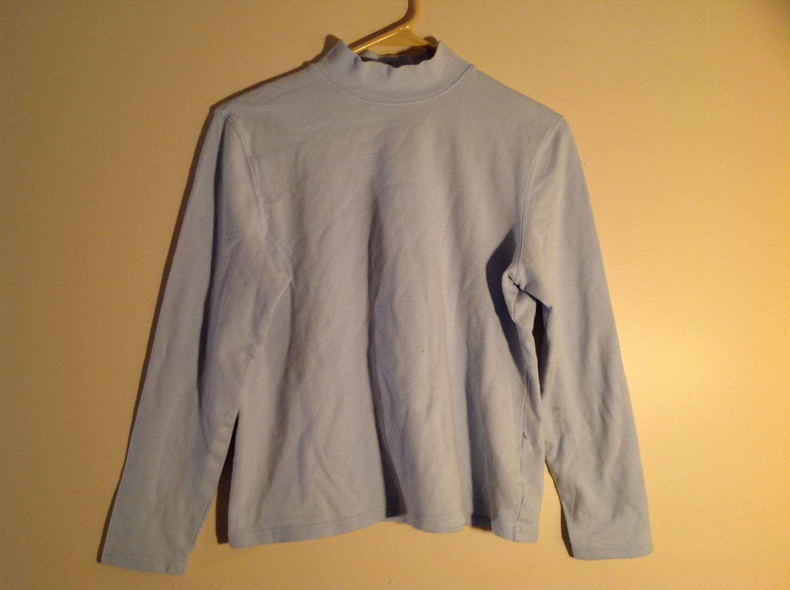Croft and Barrow Light Blue Long Sleeve Turtleneck Shirt Size Petite Large