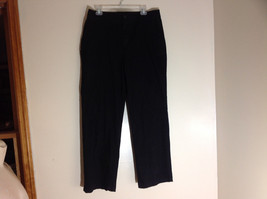 Croft & Barrow Stretch Black Suede Feeling Work Dress Pants Size 16 image 1