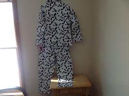 Cats Pajamas Flannel Pajama Set w Crossword Pattern & Eye Mask S or L choice image 5