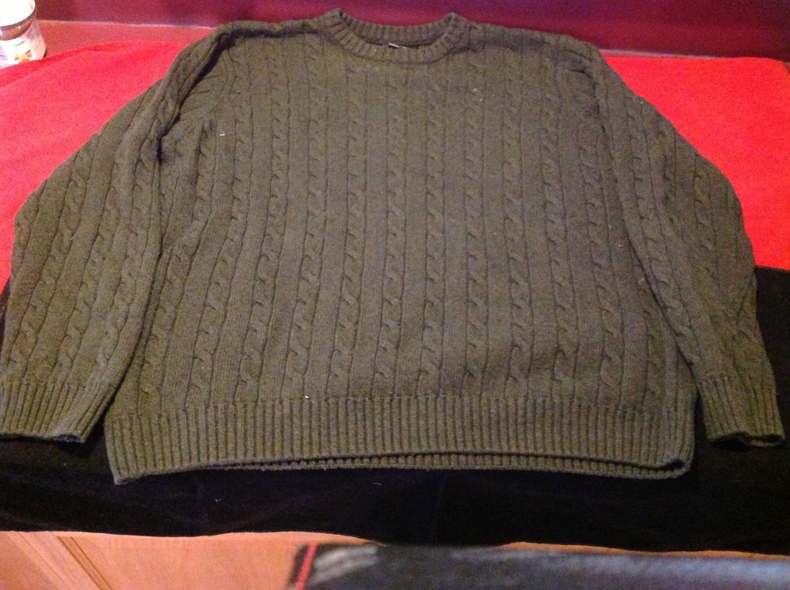 Croft & barrow unisex olive color  long sleeve top sweater size XXL