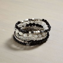 Cuff Bracelet Black and White stackers