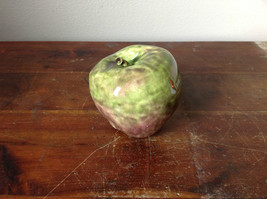 Ceramic Handcrafted Artisan Green and Purple Apple Glazed Decoration image 4