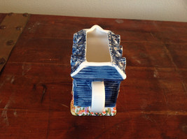 Ceramic Hand Painted Creamer with Spout and Handle Shaped to Look Like a House image 4