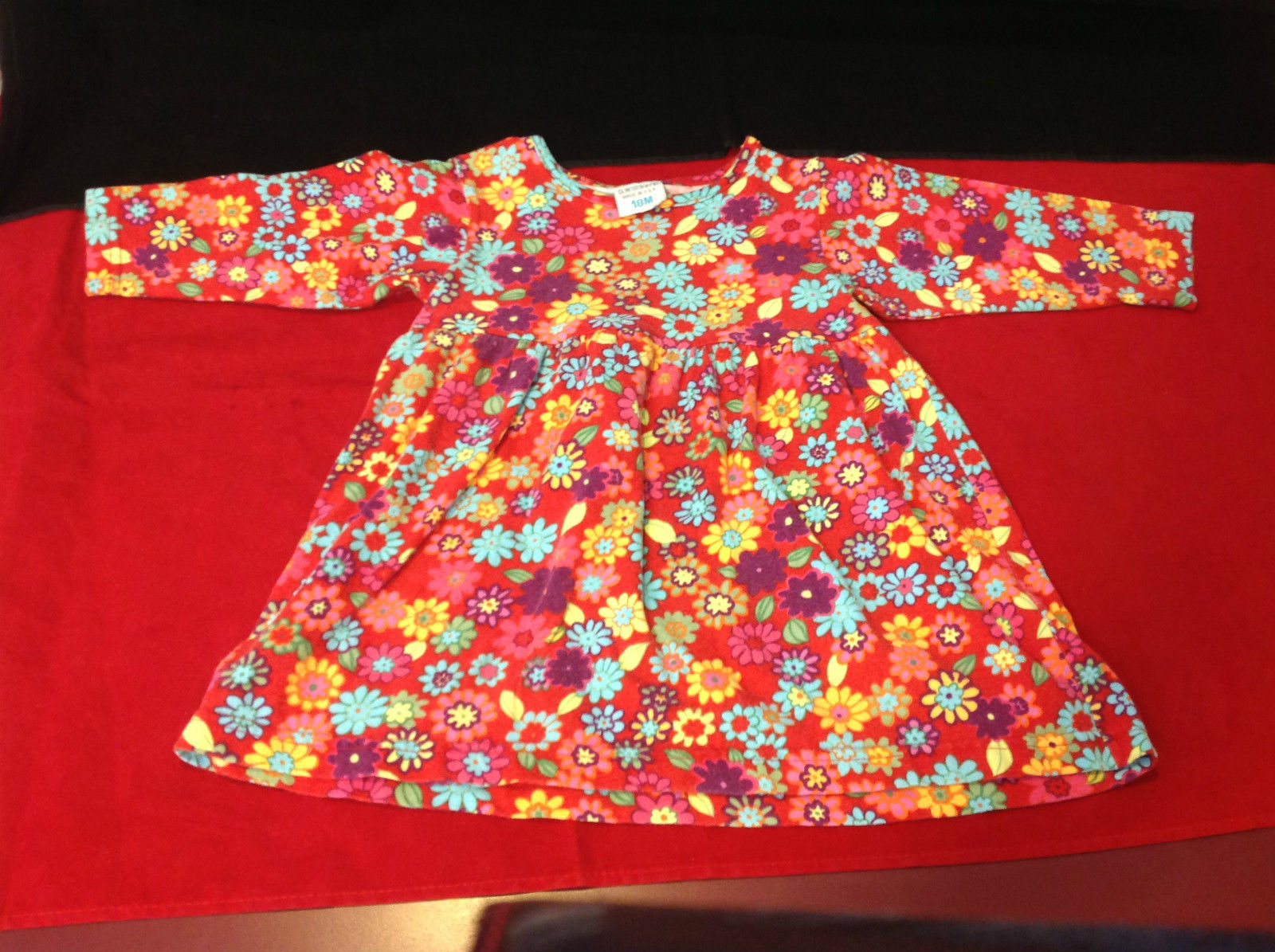 Cute G.W. Kers Floral Girls Dress Size 18 Months