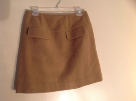 Cute Tan Wool Pencil Skirt from Banana Republic Zipper Closure at Back Size 8