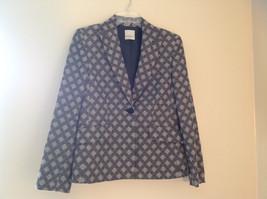 Cute Black and White Diamond Pattern Anne Klein Single Button Blazer Siz... - $44.54