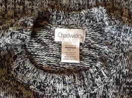 Chadwicks Black and White Long Sleeve 100 Percent Acrylic Sweater Size Small image 5