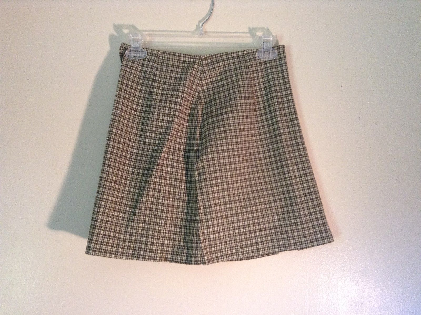 Cute Express Bleus Size 1 to 2 Green Hug Zipper on Side Plaid Skirt
