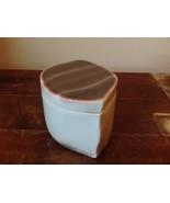 Cute Handmade Gray and Purple Clay Trinket Box with Lid - $39.99