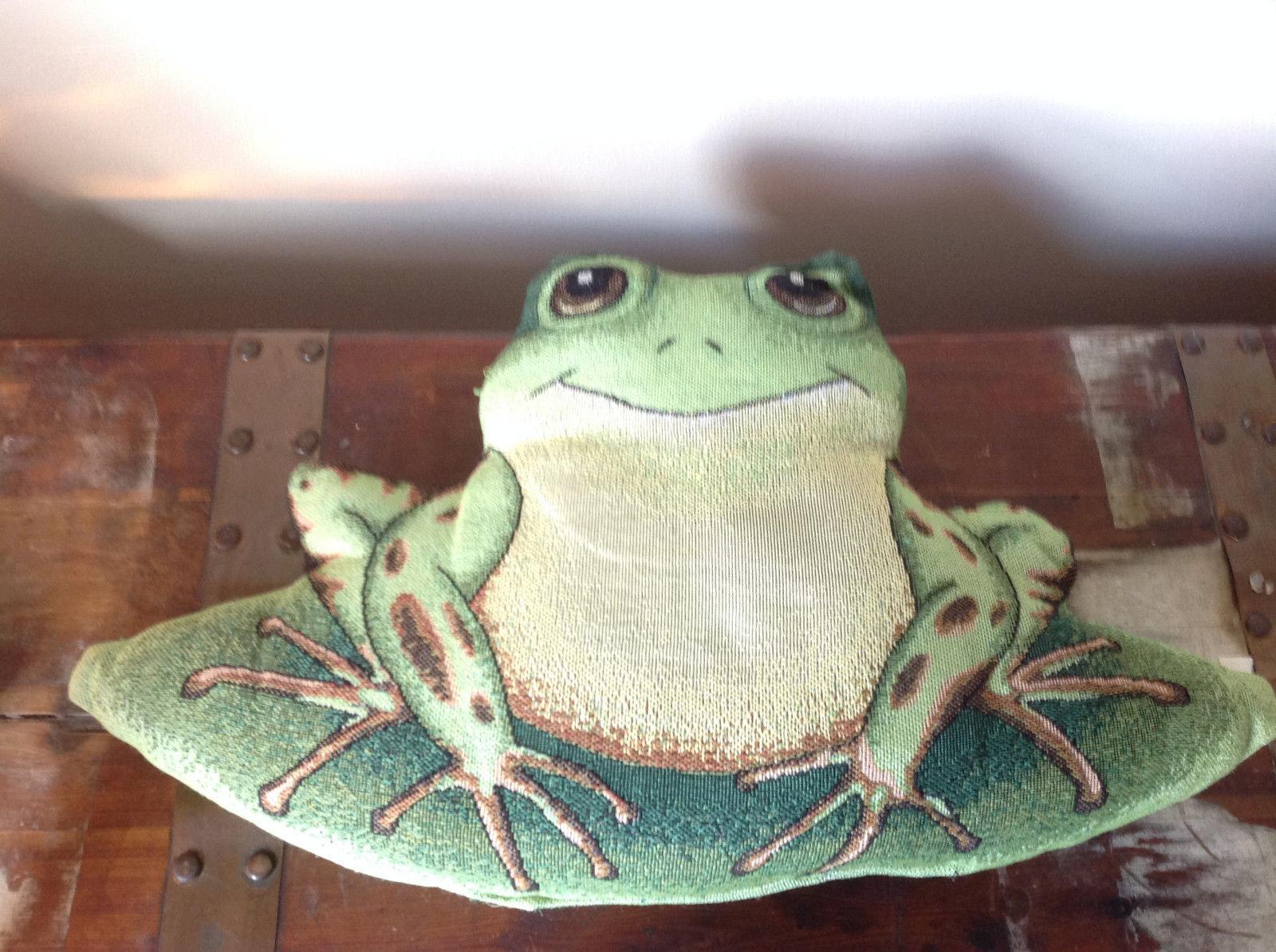 Cute Green Decorative Frog Pillow Headrest