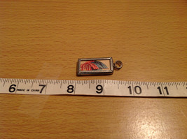 Charm Present Tie On Tag Metal and Glass Tag Reversible Versatile Old Glory Flag image 3