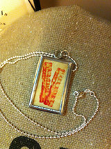 Charm Necklace Keep Calm and Eat Bacon and Bacon strips on reverse w ball chain image 2