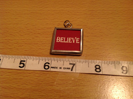 Charm Present Tie On Versatile Reversible Tag Metal Glass Tag Santa and Believe image 3