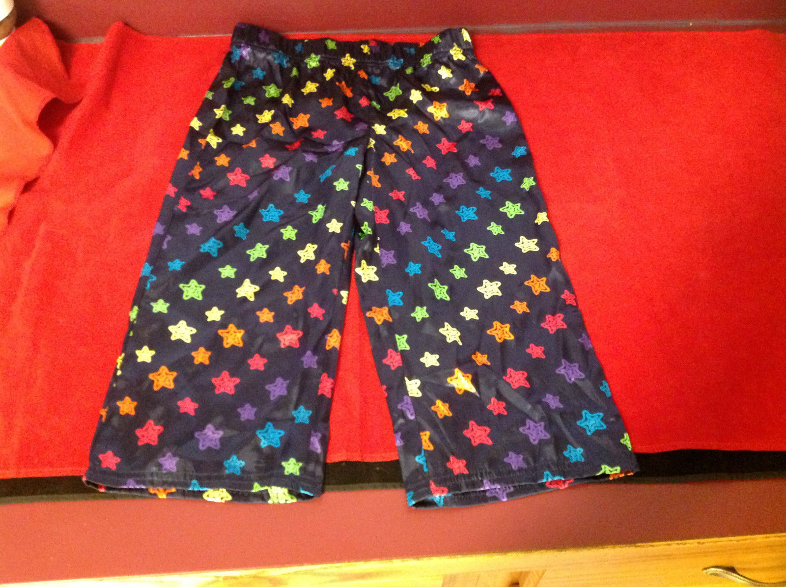 Cute Justice Girls Pajama Bottoms Blue with Multicolored Stars Size 10