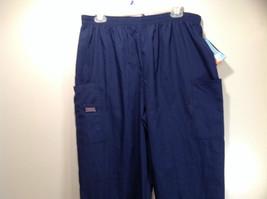 Cherokee Workwear Dark Blue Uniform Work Pants Stretchy Waist Size L NEW image 2