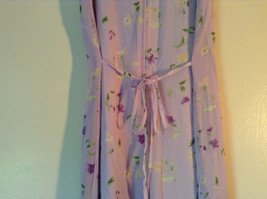 Cherokee Light Purple with Flowers Sleeveless Dress Perfect for Summer Size M8 image 7