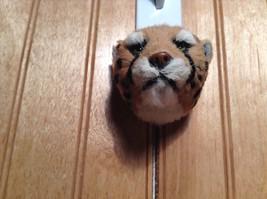 Cheetah Head Mini Refrigerator Magnet Recycled Rabbit Fur image 5