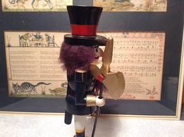 Cute Vintage Nutcracker Soldier Holding Axe and Lantern image 2