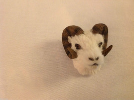 Dall sheep with long curly horns furry refrigerator magnet in 3D image 1