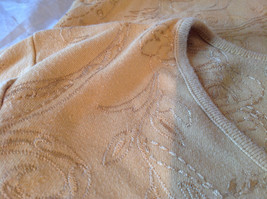 Chicos Gold Yellow V Neck Top Three Quarter Length Sleeves Size 1 image 11