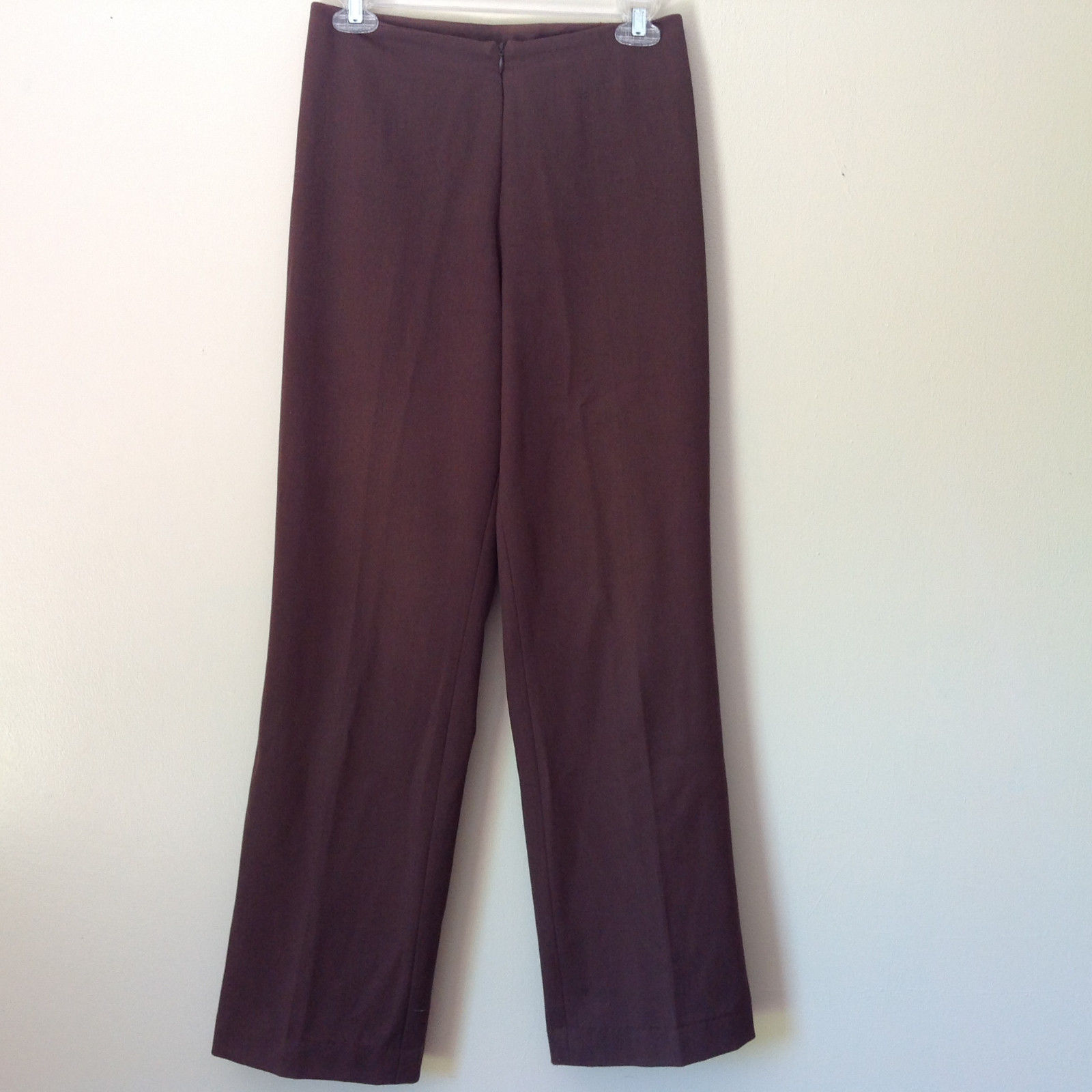 Dark Brown Dress Pants by Avalin Size 6 Made in USA Front Zipper Formal