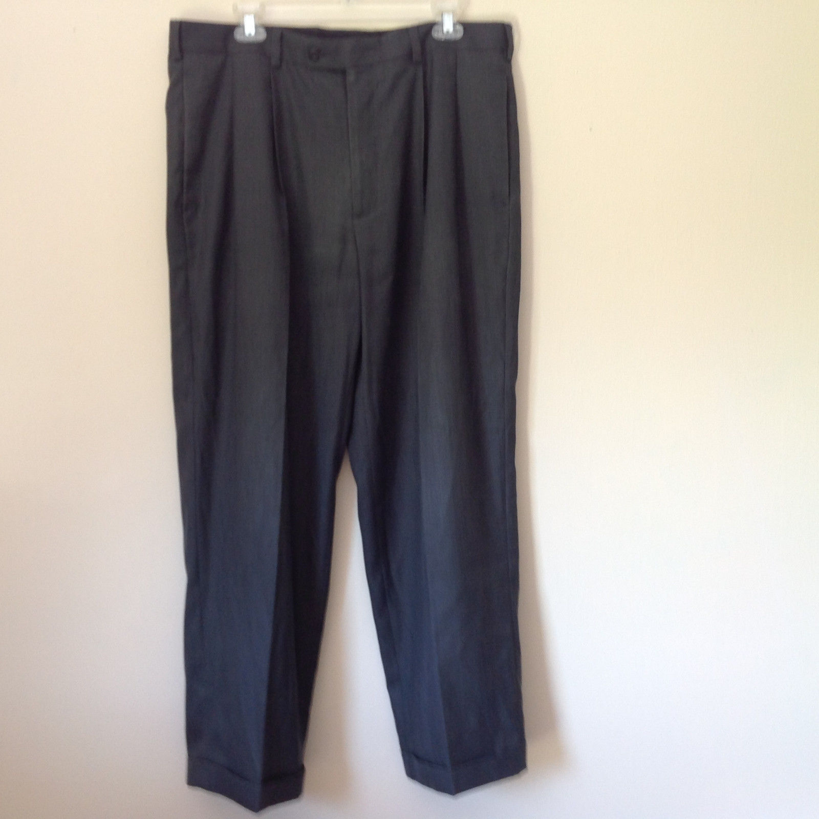 Dark Gray Dress Pants by Perry Ellis Portfolio Front Back Pockets Size 36 by 30