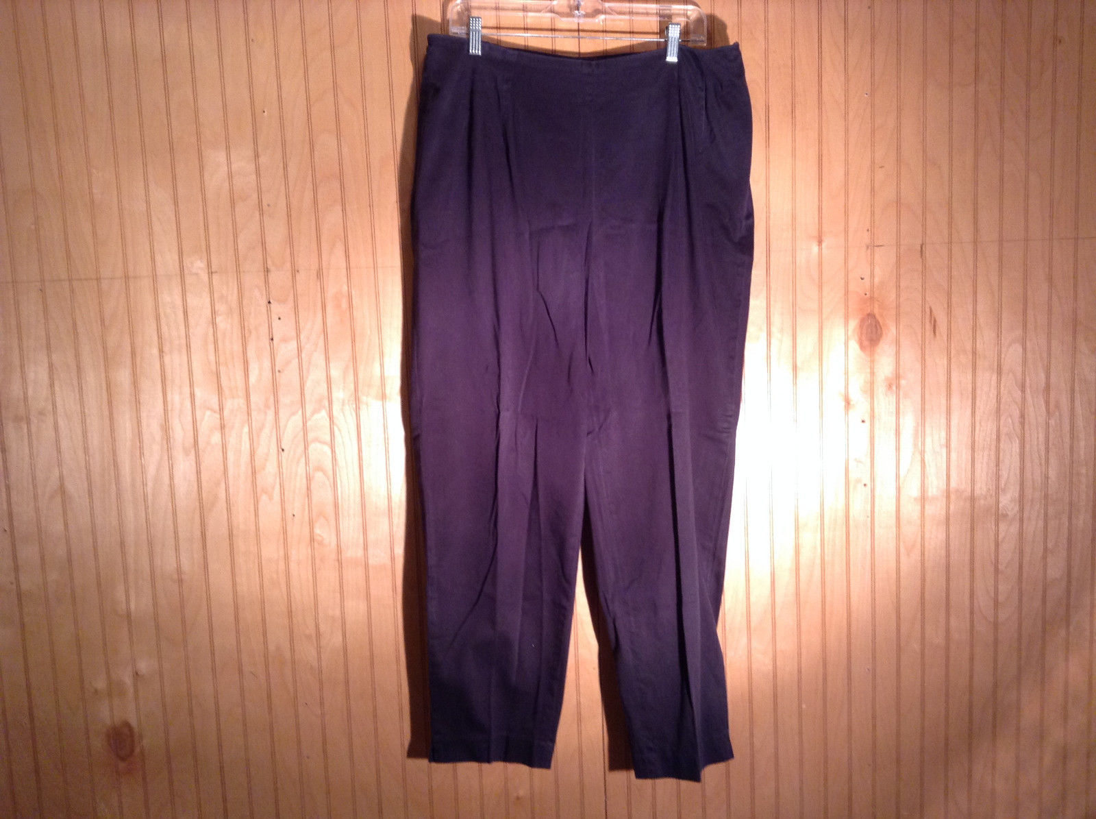 Dark Blue Comfortable Pants witih Stretchy Waist by Talbots Size 18W No Pockets