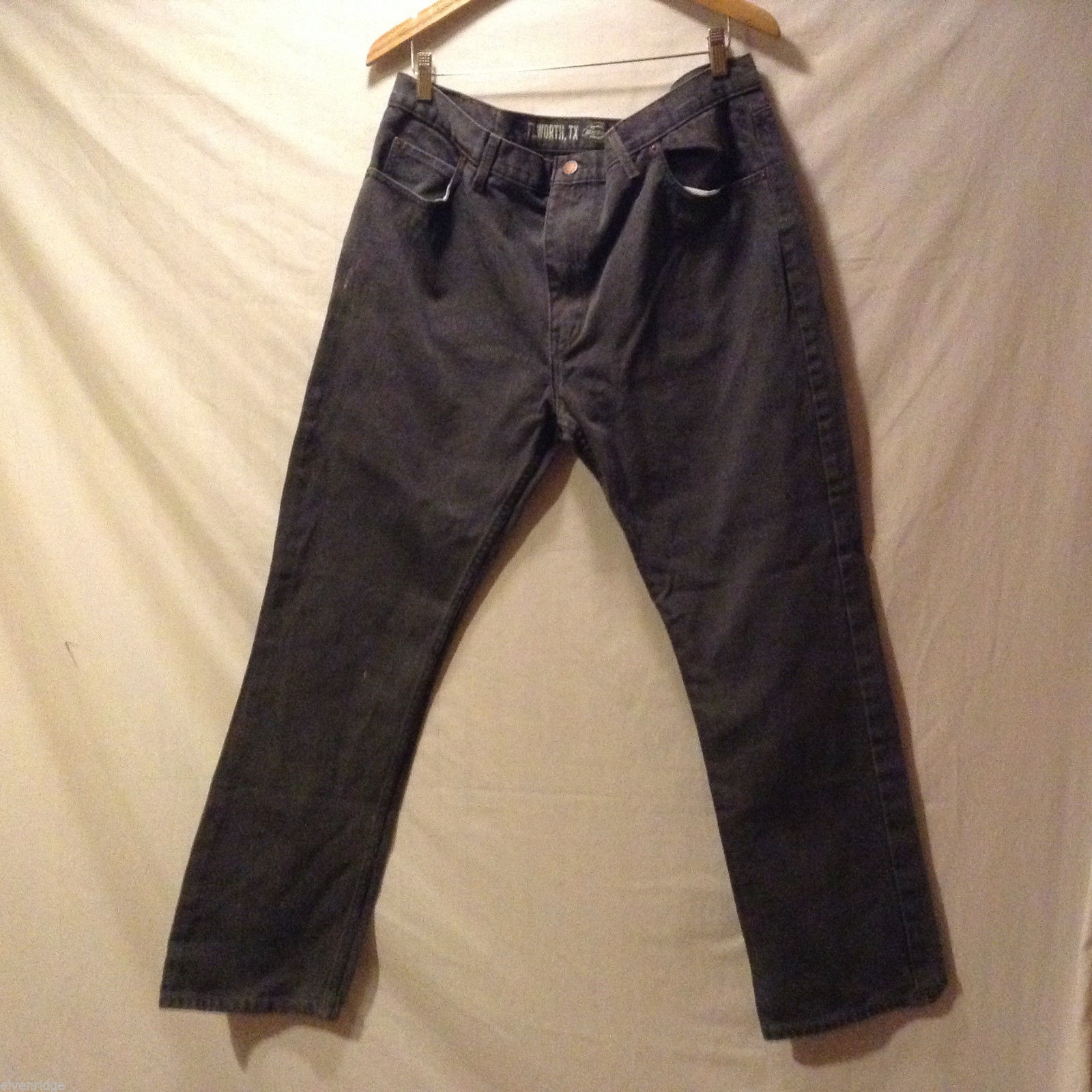 DICKIES FT.Worth, TX Mens 100% cotton Black Jeans Pants, Size 38x32 Slim fit