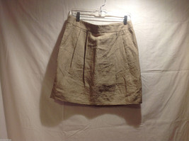 DKNY C Knee Length Summer Linen Sand Beige Skirt Front Pockets, Size 8 with Tags