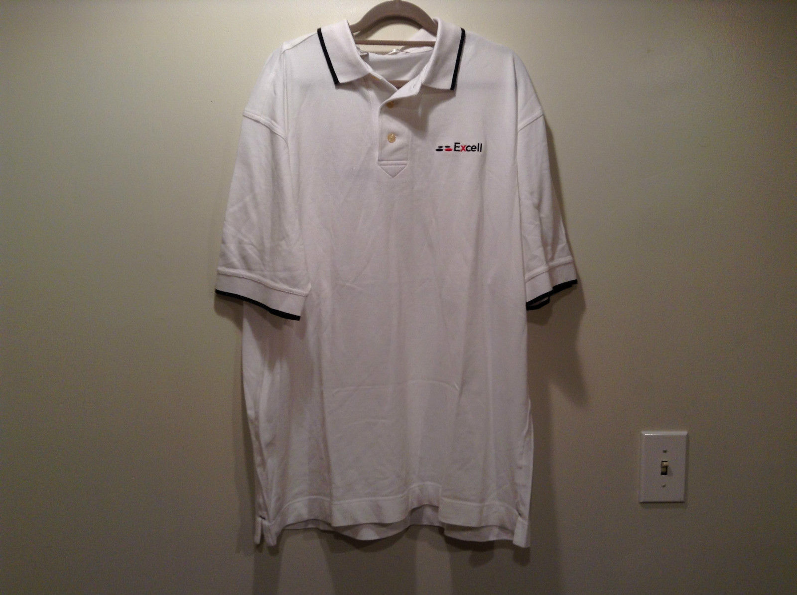 Cutter and Buck White Short Sleeve Polo Shirt Size XL New with Tags Excell