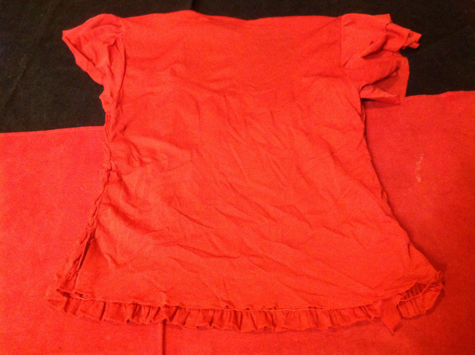 DKNY short sleeve red blouse