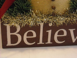 "Christmas Decorative ""Believe"" Snowman Box image 2"