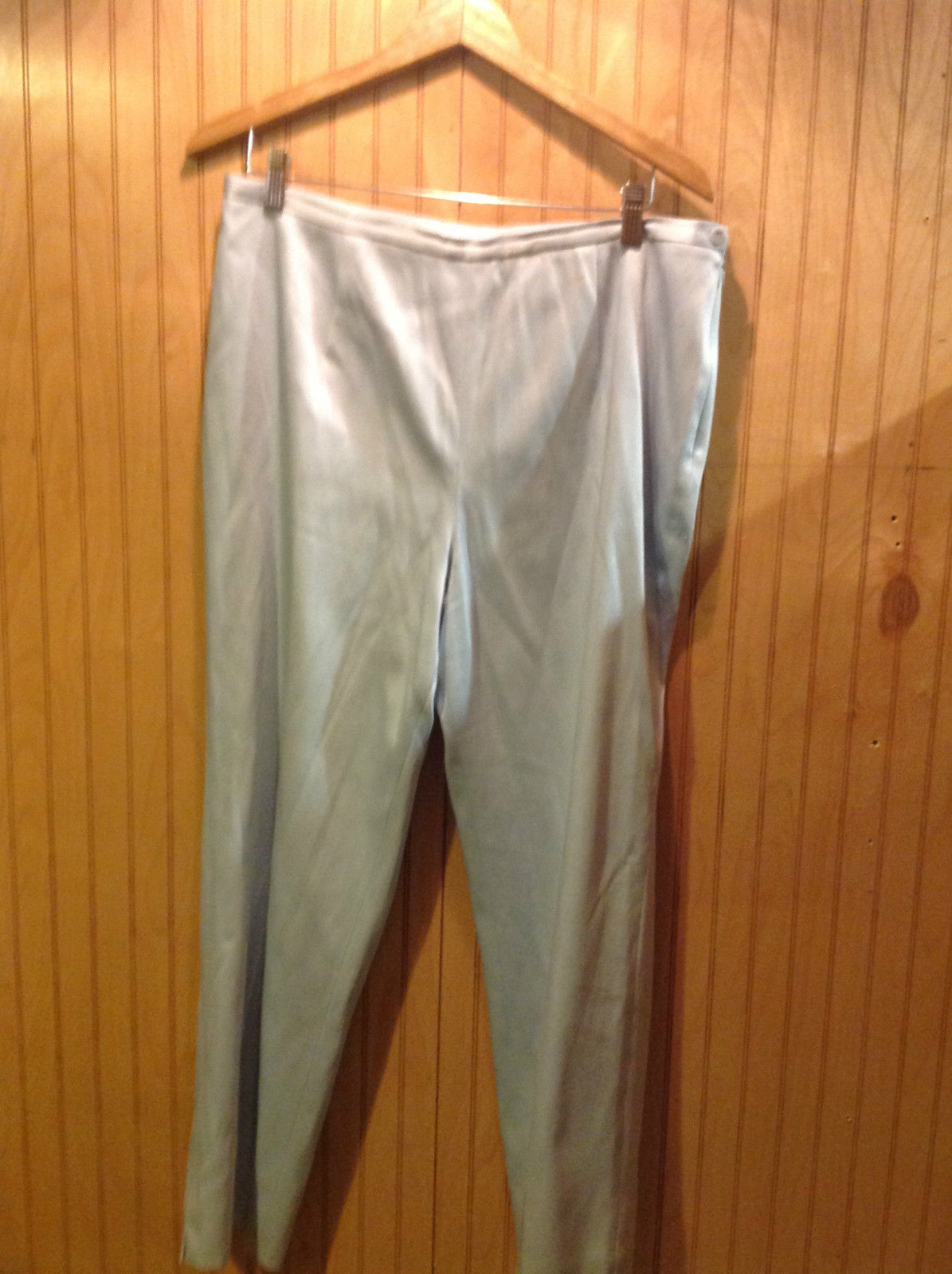 DO Collection Light Blue Lined Pants Side Zipper Closure No Pockets Size 16