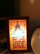 "Christmas Decor Lighted Box ""Peace Joy Noel"" image 3"