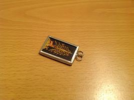 Christmas Tree Metal and Glass Tag Charm Present Tie On Reversible Versatile image 3