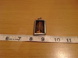 Christmas Tree Metal and Glass Tag Charm Present Tie On Reversible Versatile image 4