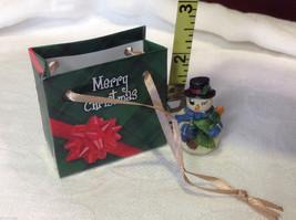 Christmas bag Snowman w pine tree #2 perfect gift 4 shut ins elderly person image 4