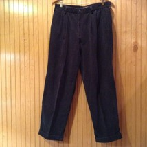 DOCKERS Navy Blue Corduroy Front Relaxed Fit Casual Pants Size 33 by 30