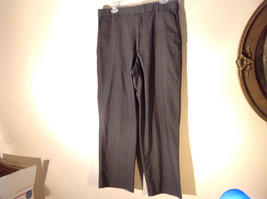 DOCKERS Premium Khaki Gray Flat Front Relaxed Fit Dress Pants Size 34 by 30