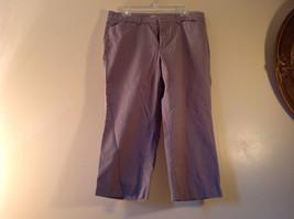 DOCKERS Size 14 Plaid Capri Pants Excellent Condition