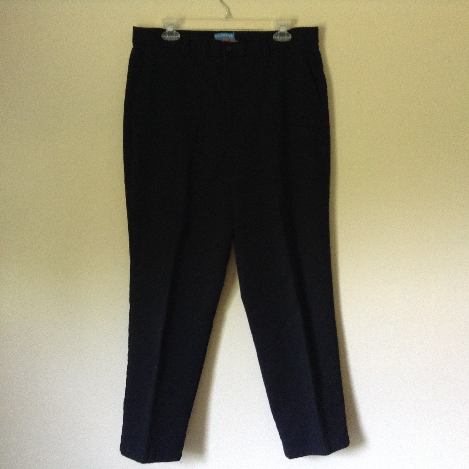 DOCKERS Stain Defender Black Casual Pants Size 16 Short 100 Percent Cotton