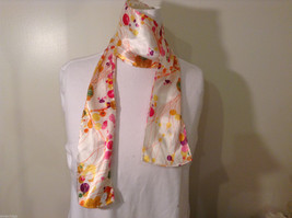 """""""Circles and Lines"""" summer bright multi colors Scarf image 2"""