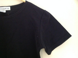 Chrysantheme Black Crew Neck Short Sleeve Shirt Stretchy Material Size Small image 4