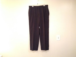 Dark Gray Pleated Front Dress Pants Cuffed Bottoms Measurements Below