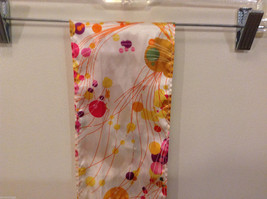 """""""Circles and Lines"""" summer bright multi colors Scarf image 4"""