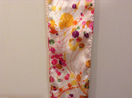 """""""Circles and Lines"""" summer bright multi colors Scarf image 5"""