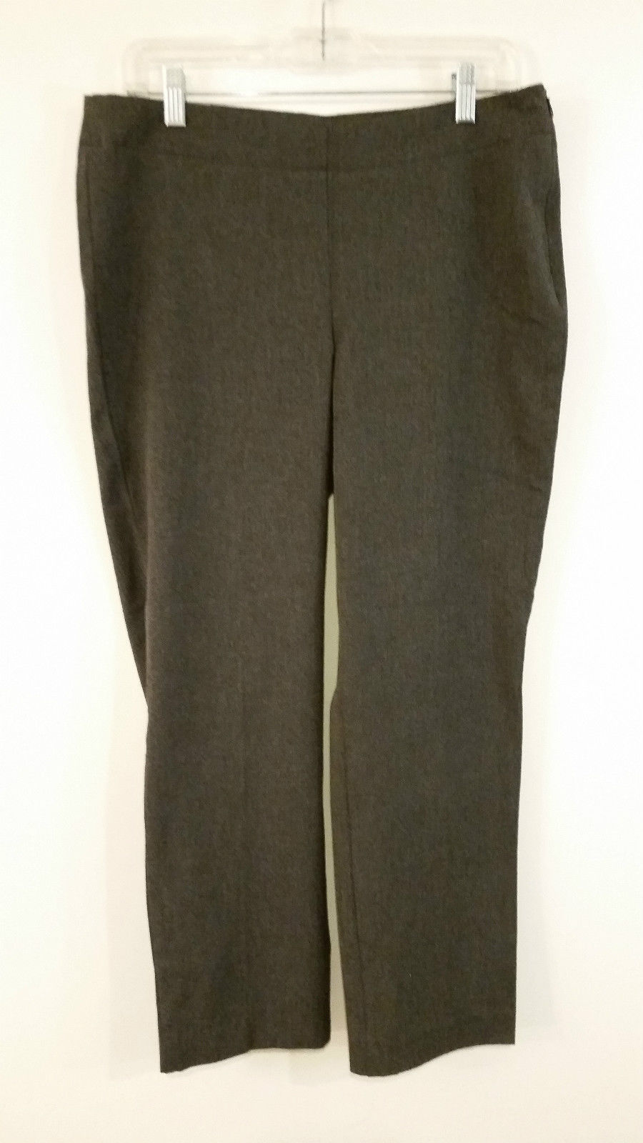 Dark Gray Stretchy Pants Talbots Heritage Petites Side Zipper Size 12P