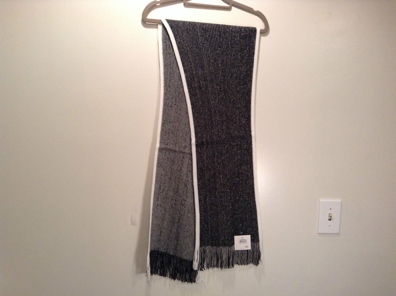 Primary image for Dark Gray Knitted Reversible Scarf One Size NEW WITH TAGS